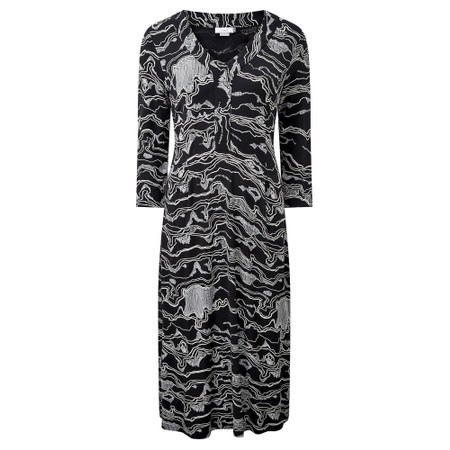 Adini Gina Midi Dress - Black