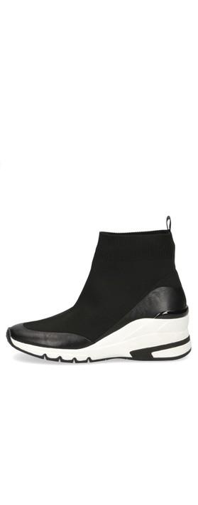 Caprice Footwear Lou High Top Sock Trainer Black