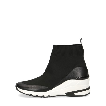 Caprice Footwear Lou High Top Sock Trainer - Black