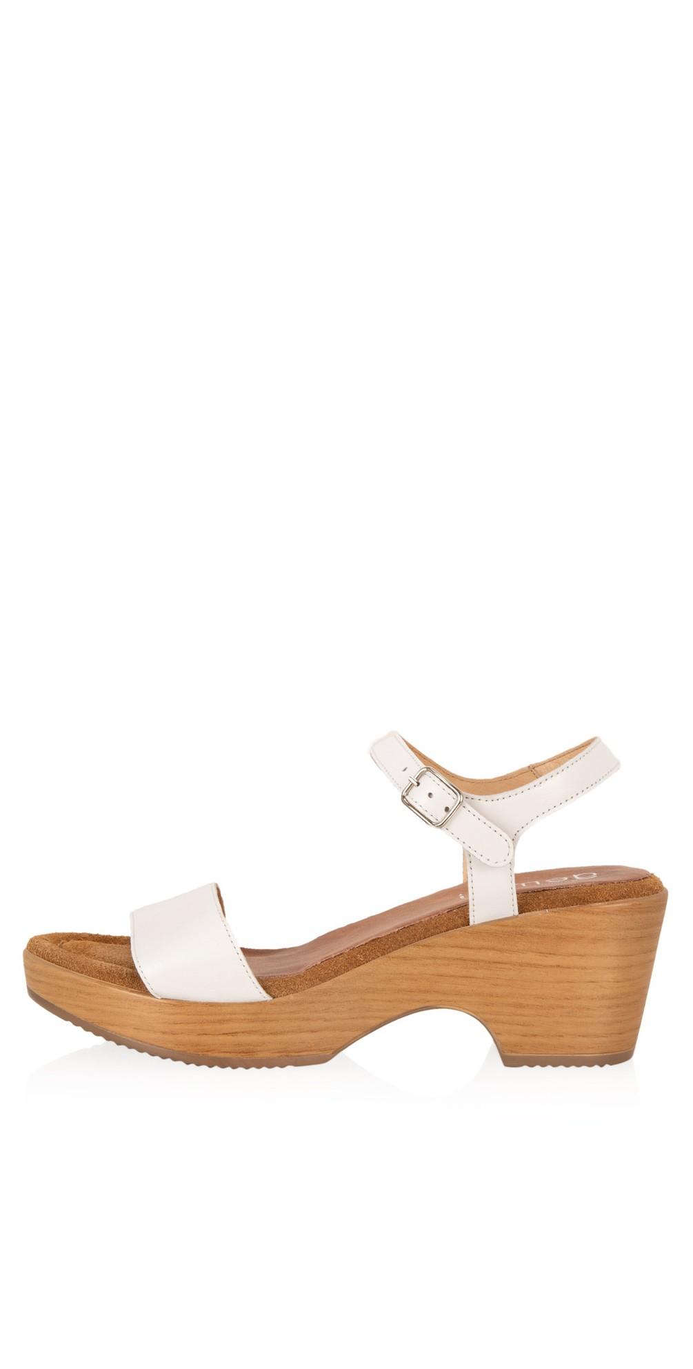 Aneka Icon White Leather Wedge Sandal main image