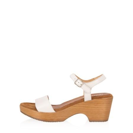 Gemini Label Shoes Aneka Icon Leather Wedge Sandal - White