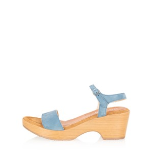 Gemini Label Shoes Aneka Icon Suede Wedge Sandal