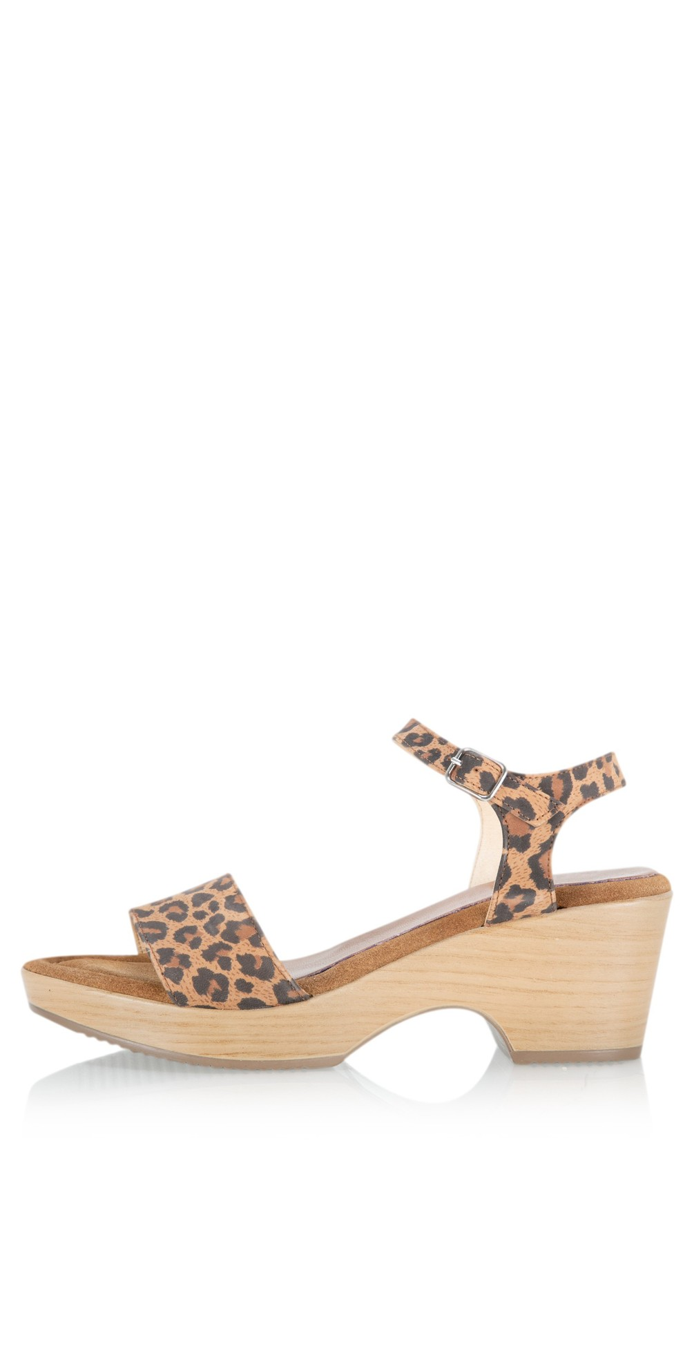 Aneka Icon Leopard Suede Wedge Sandal main image