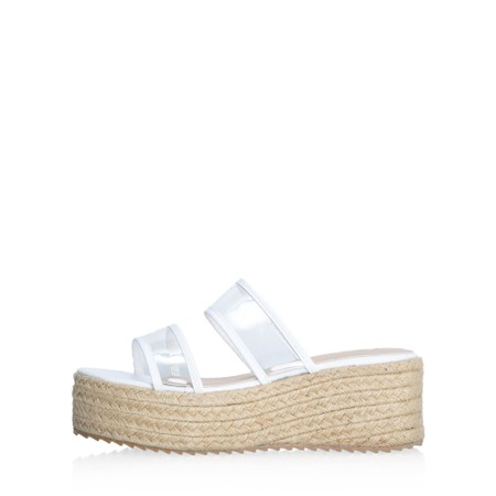Livshu Positano Wedge Sandal - White