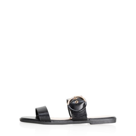 Livshu Milan Buckle Sandal - Black