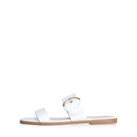 Livshu Milan Buckle Sandal - White