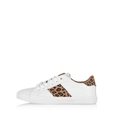 Eljay Masai Leo Print Trainer Shoe  - White