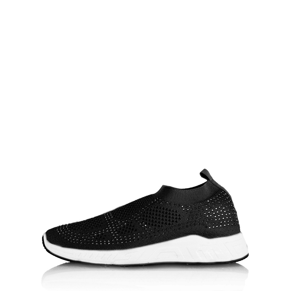 Livshu Malmo Knitted Trainer Shoe Black