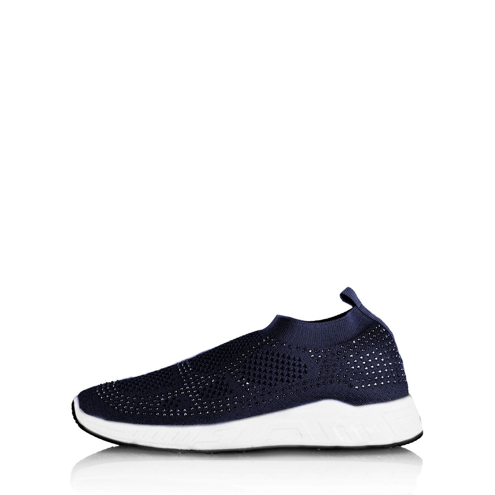 Livshu Malmo Knitted Trainer Shoe Navy