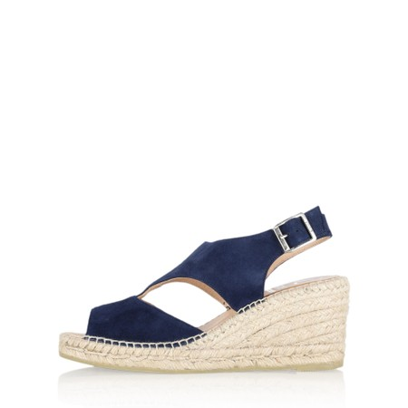 Kanna Ania Wedge Sandal - Blue