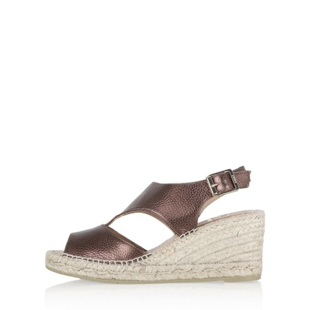 Kanna Ania Wedge Sandal - Metallic