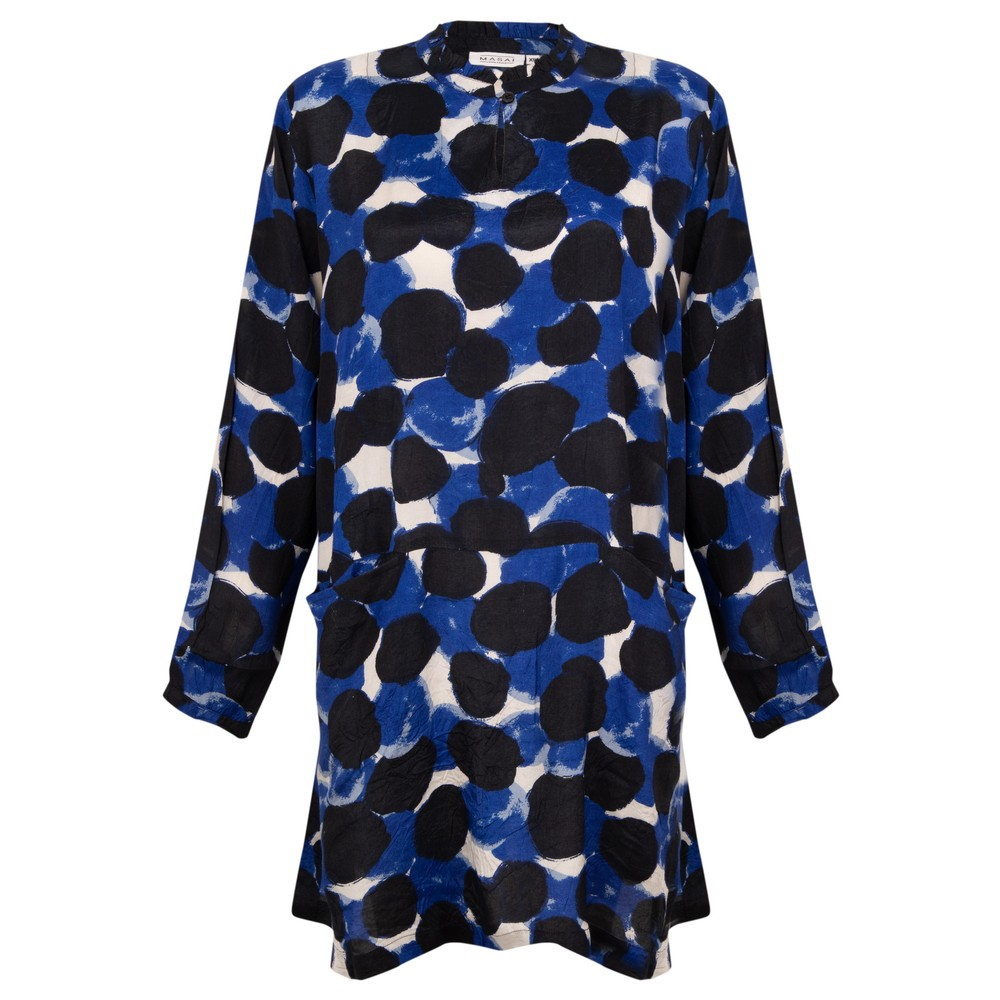 Masai Clothing Goldas Tunic Clematis Blue