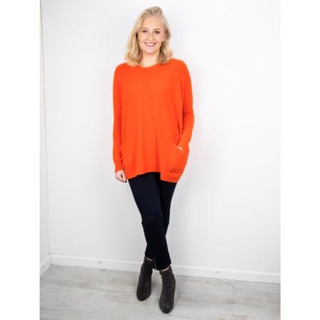 Amazing Woman  Caryf X Round Neck Oversized Jumper - Orange