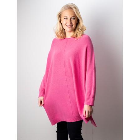Amazing Woman  Cassi X Round Neck Front Seam Knit - Pink