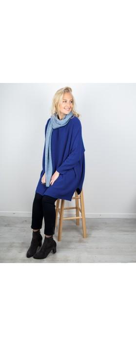 Amazing Woman Cassi X Round Neck Front Seam Knit Marina