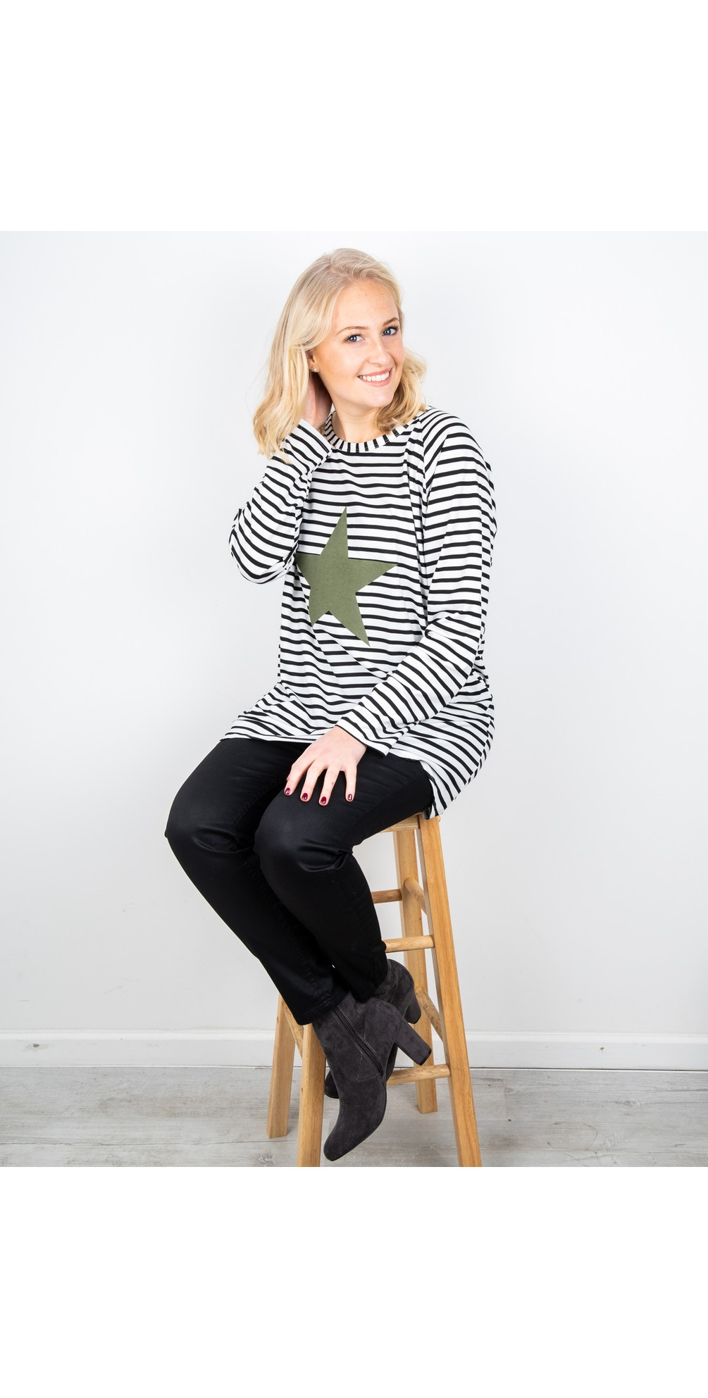 Robyn Stripe Star Top main image