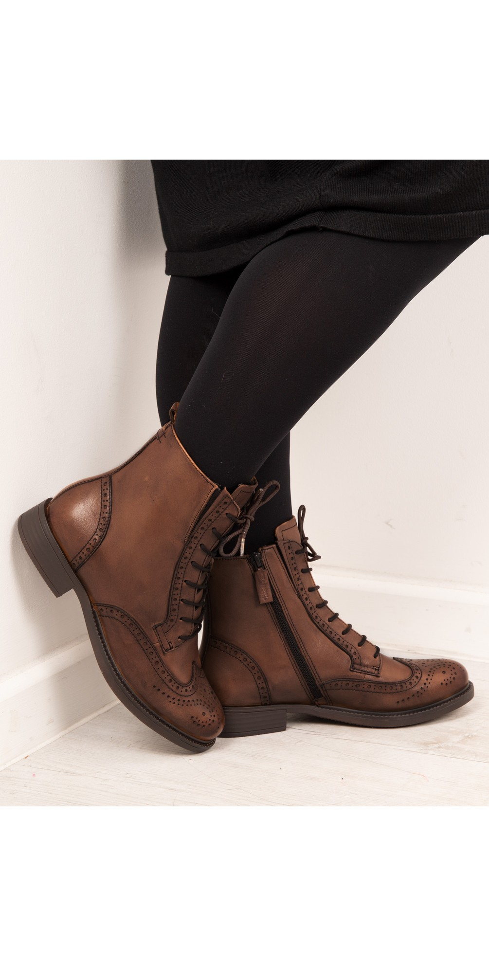 Suzan Lace Up Ankle Boot main image