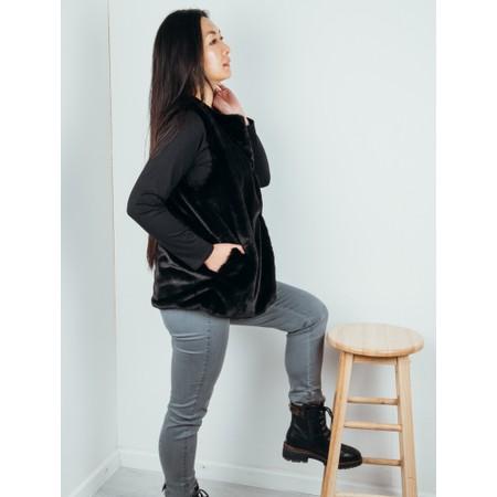 Amazing Woman  Cuddle Faux Fur Gilet - Black