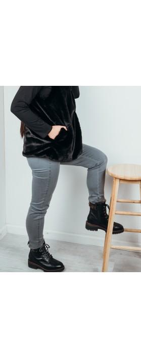 Robell Rose 09 Dark Grey Ankle Length Slimfit Jean Dark Grey 95