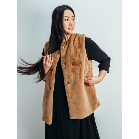 Amazing Woman  Cuddle Faux Fur Gilet - Brown