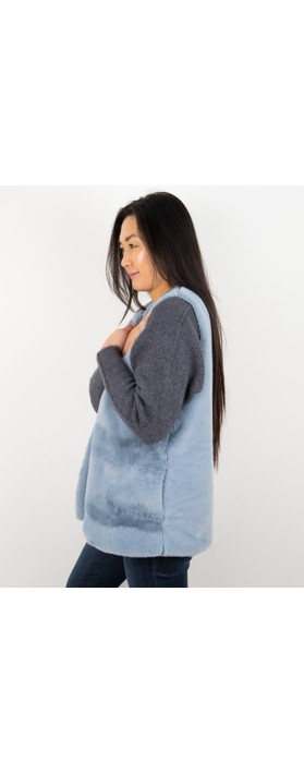 Amazing Woman  Cuddle Faux Fur Gilet Denim