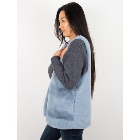 Amazing Woman  Cuddle Faux Fur Gilet - Blue