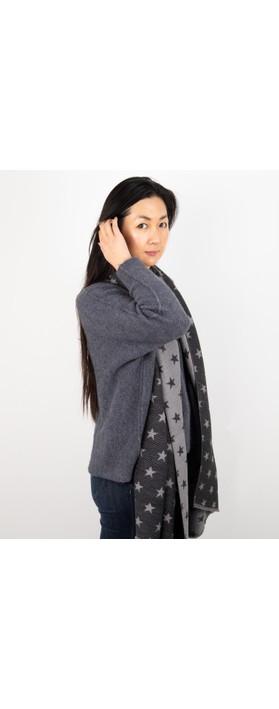 Gemini Label Accessories Revo Small Star Reversible Scarf Black / Grey