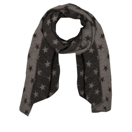 Gemini Label Accessories Revo Small Star Reversible Scarf - Black