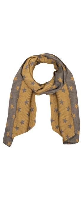 Gemini Label Accessories Revo Small Star Reversible Scarf Mustard / Grey
