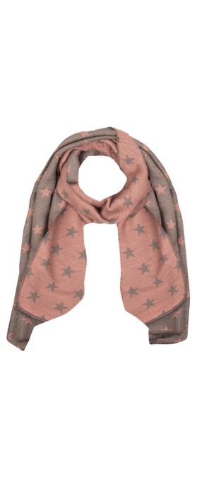 Gemini Label Accessories Revo Small Star Reversible Scarf Pink / Grey