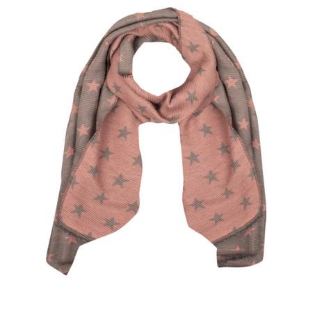 Gemini Label Accessories Revo Small Star Reversible Scarf - Pink