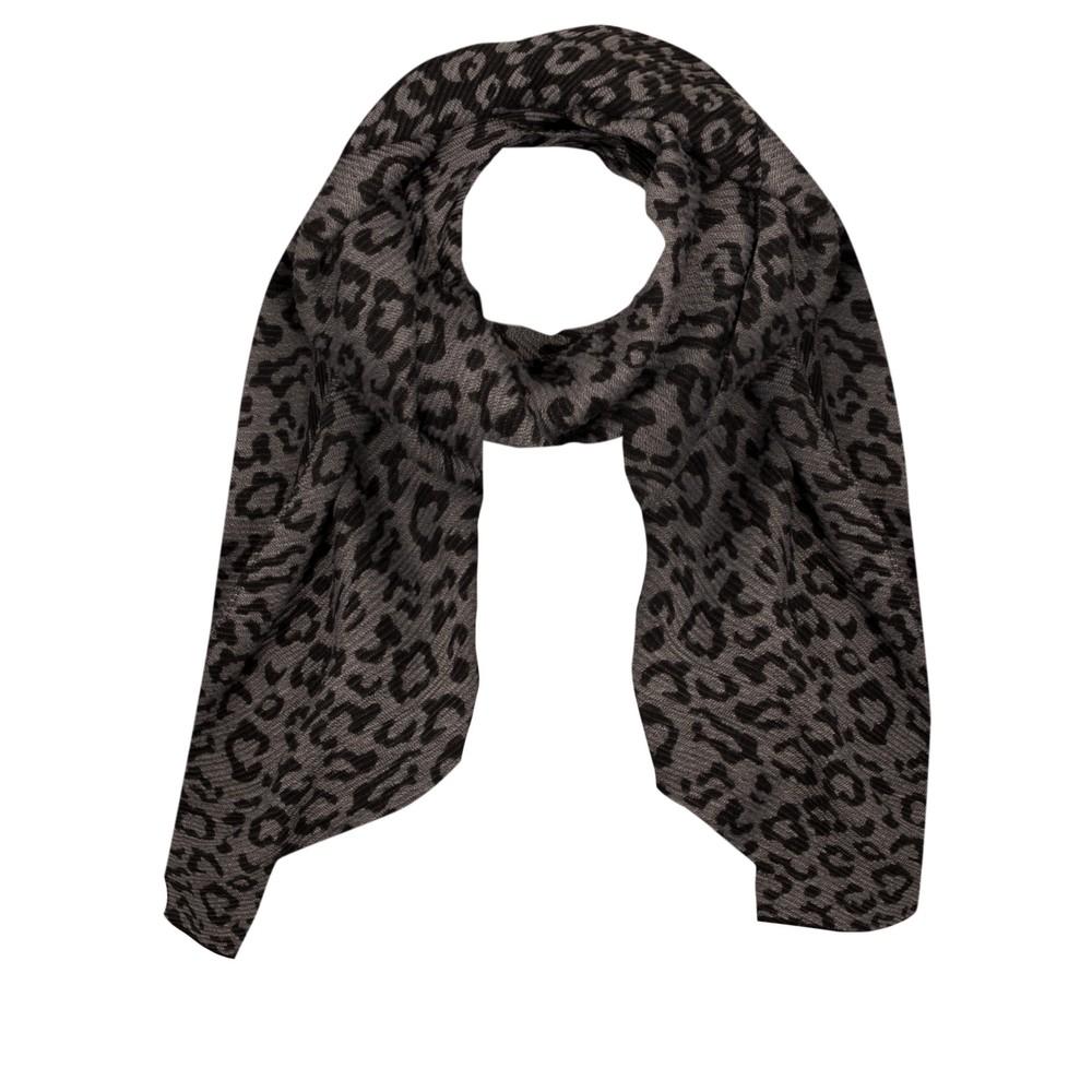 Gemini Label Accessories Revo Leopard Scarf Black