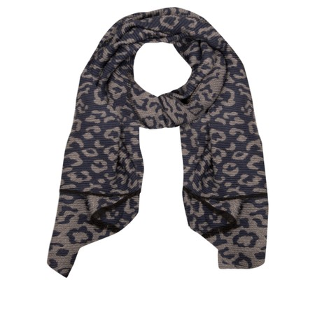 Gemini Label Accessories Revo Leopard Scarf - Blue