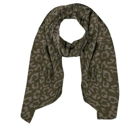 Gemini Label Accessories Revo Leopard Scarf - Green