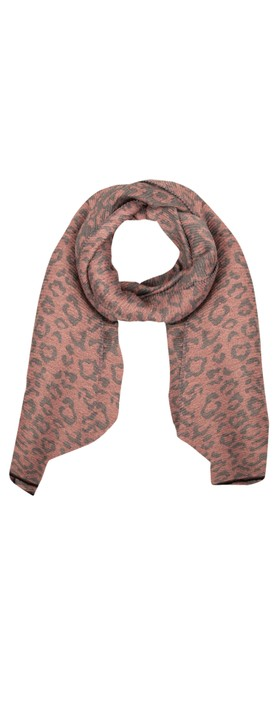 Gemini Label Accessories Revo Leopard Scarf Pink
