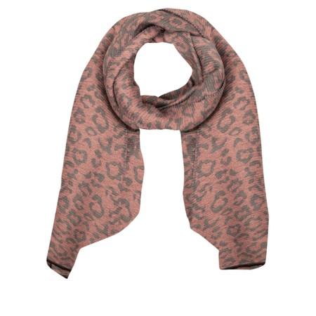 Gemini Label Accessories Revo Leopard Scarf - Pink