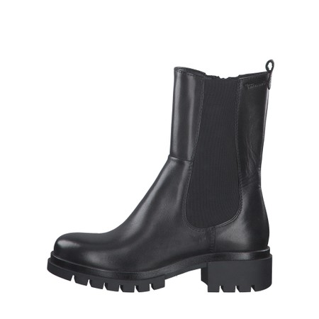 Tamaris  Denize Biker Style Chelsea Boot - Black