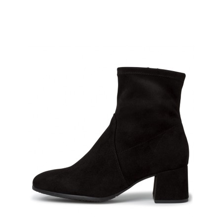 Tamaris  Nadda Stretch Ankle Boot Block Heel - Black