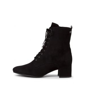 Tamaris  Cika Lace Front Faux Suede Ankle Boot