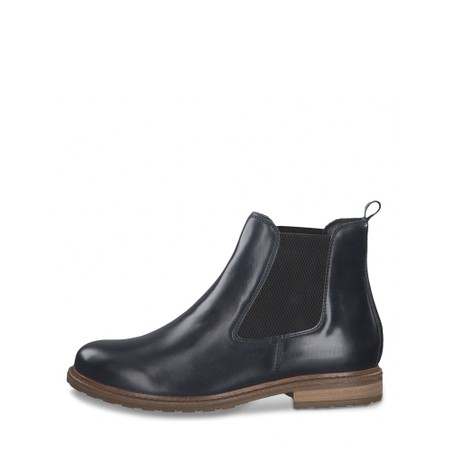 Tamaris  Belin Leather Chelsea Boot - Blue