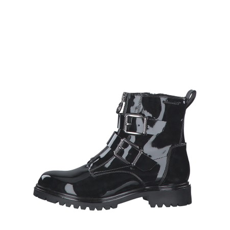 Tamaris  Soul buckle Military Style Ankle Boot - Black