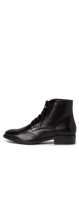Tamaris Taina Lace Front Ankle Boot Black