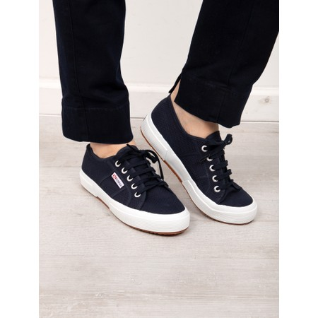 Superga Classic Navy 2750 Cotu Shoe - Blue