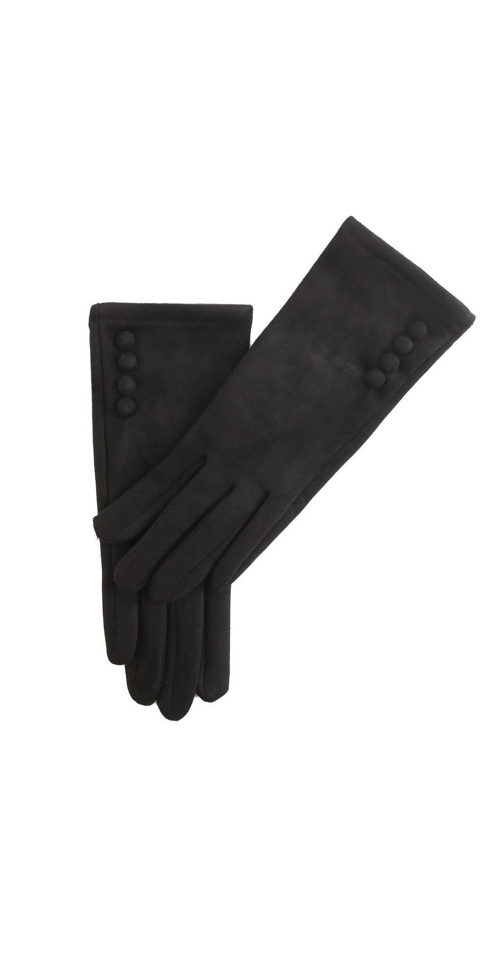 Nancy Faux Suede Button Trim Glove main image