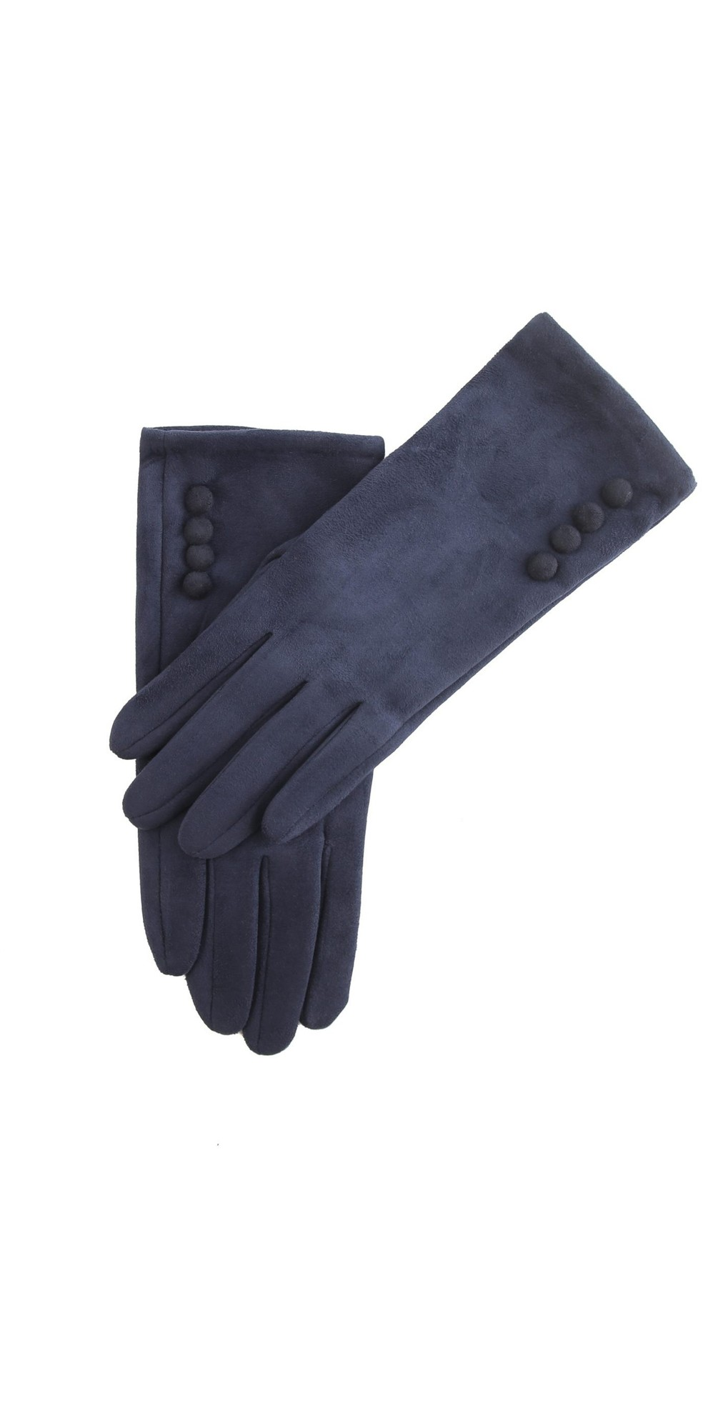 Nancy Faux Suede Button Trim Glove main image