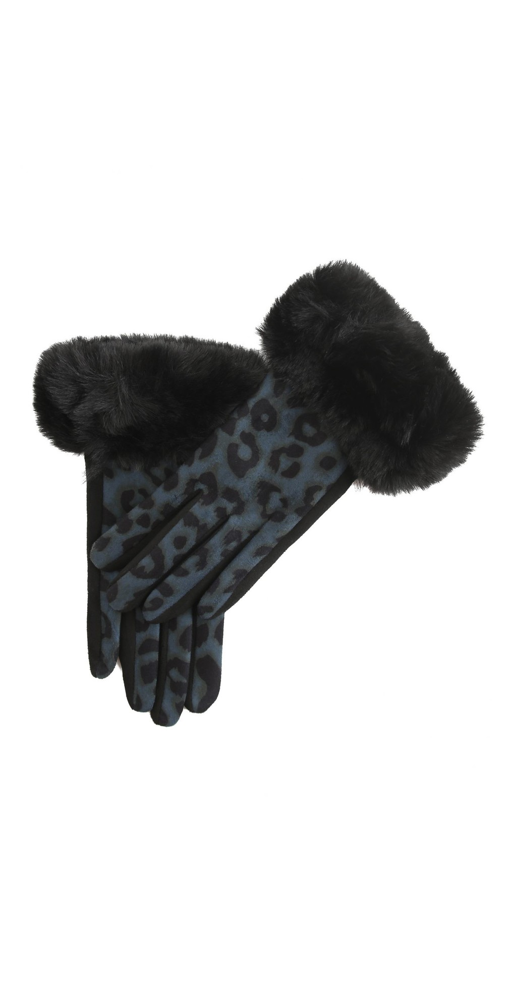Nala Leopard Fur Trim Glove main image