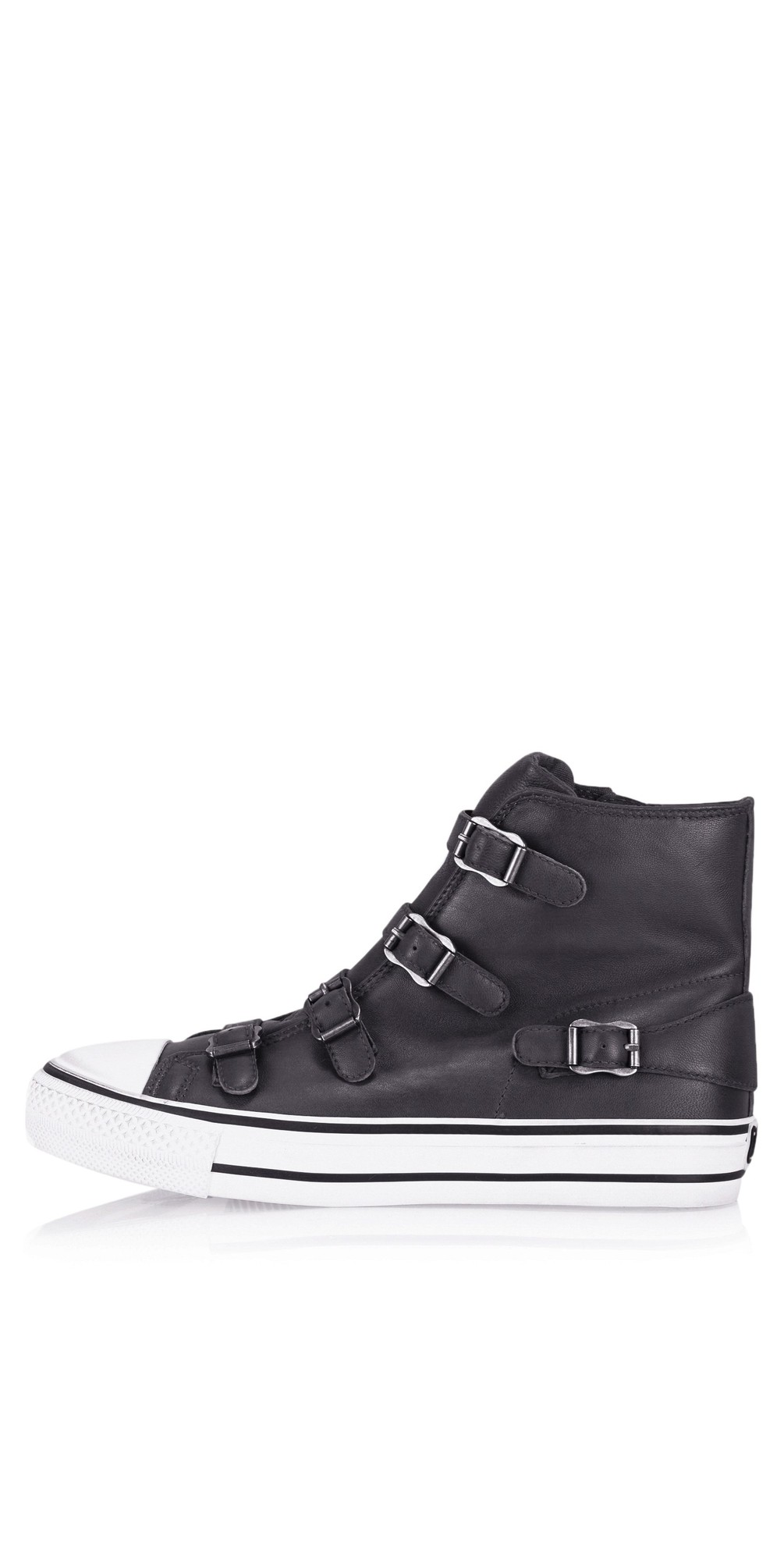 Virgin Graphite Leather Trainers main image