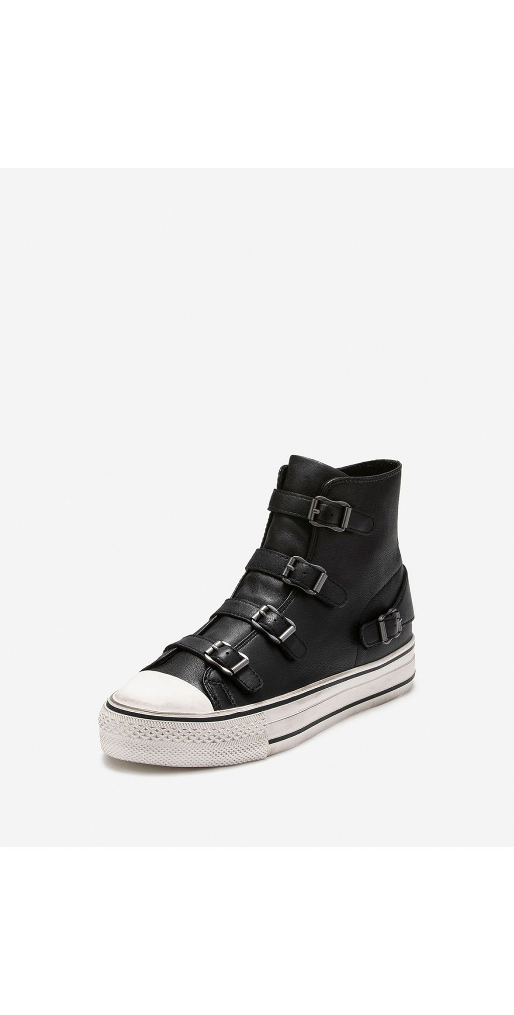 Virgin Black Leather Classic Buckle Trainers main image