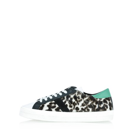 D.A.T.E Hill Animal leopard Trainer Shoe - Beige