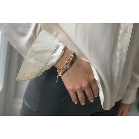 Boho Betty Phuket Two Layer Bracelet Stack  - Gold